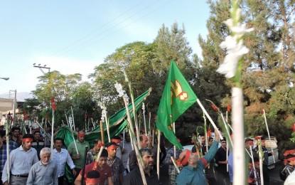یک هزار نفر اهالی فین کاشان پیاده عازم مشهد اردهال شدند
