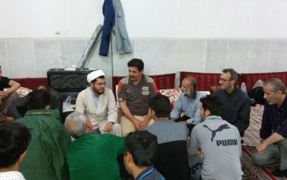 مراسم اعتکاف در مسجد اعظم امامزاده هادی (ع)+تصویر