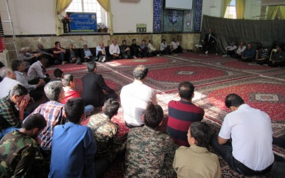 دعای ندبه در مسجد فاطمیه فین + تصویر