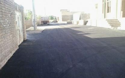 پس از بیست روز؛ حل مشکل آسفالت کوچه سادات پنجم در محله سیدها + تصویر