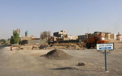 مراحل پایانی آزادسازی بلوار شهدای فین در حال اجرا است