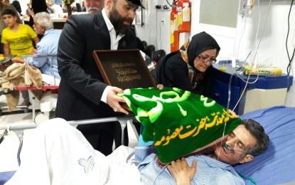 در حاشیه دومین همایش امامزادگان منطقه فین؛ حضور خادمان حرم حضرت معصومه (س) در بیمارستان شهید بهشتی کاشان + تصویر