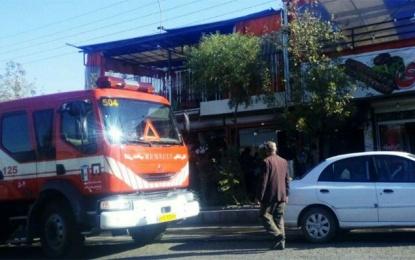 مهار آتش سوزی در سفره خانه ای در فین کوچک + ویدئو